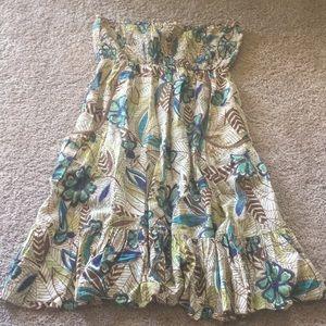 American Rag floral strapless dress